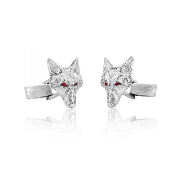fox head cufflinks with rubies ss 4