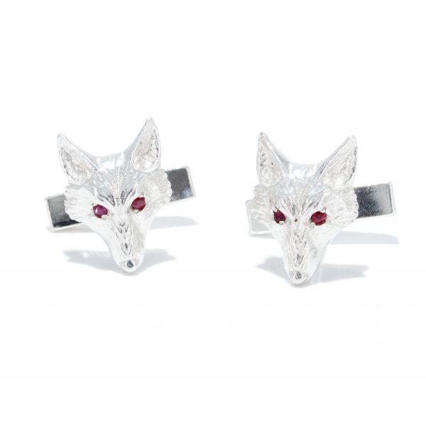 fox head cufflinks with rubies ss 5