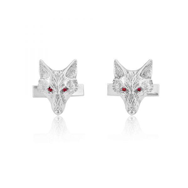 fox head cuflfinks with rubies ss 2