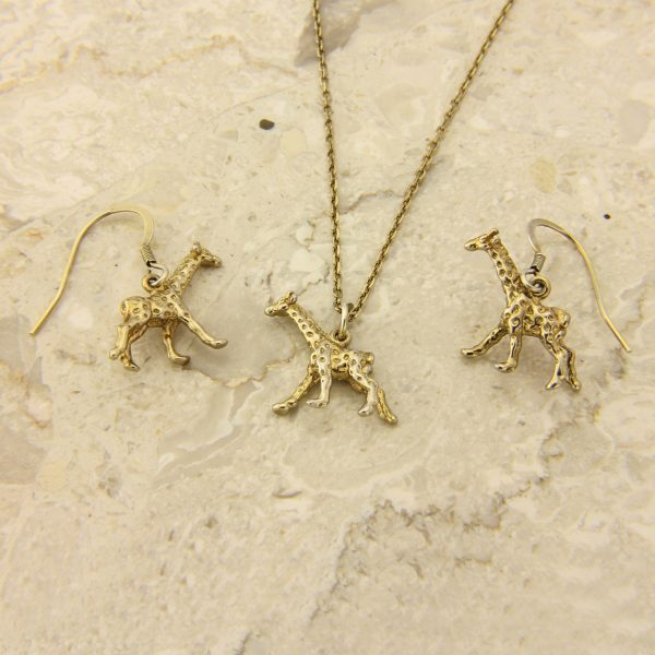 giraffe pendant and earrings set GP