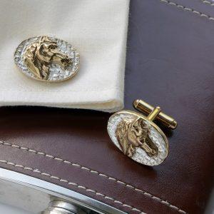 horse head cufflinks GS