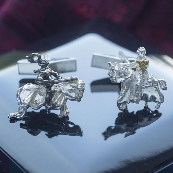 Jousting Knights Cufflinks GS