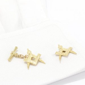 masonic-cufflinks 18ct G