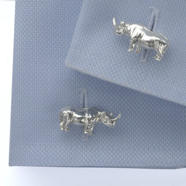 rhinoceros cufflinks ss