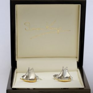 sailboat cufflinks WG
