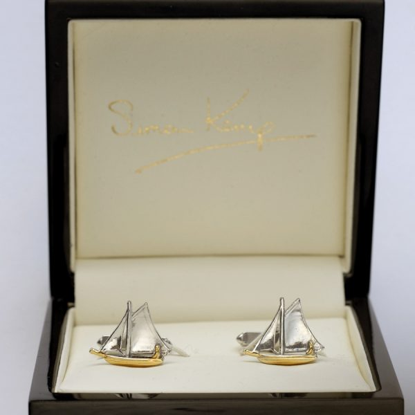 sailboat cufflinks WG
