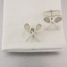 tennis cufflinks