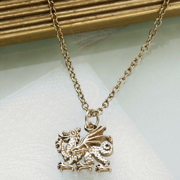 welsh dragon pendant GS