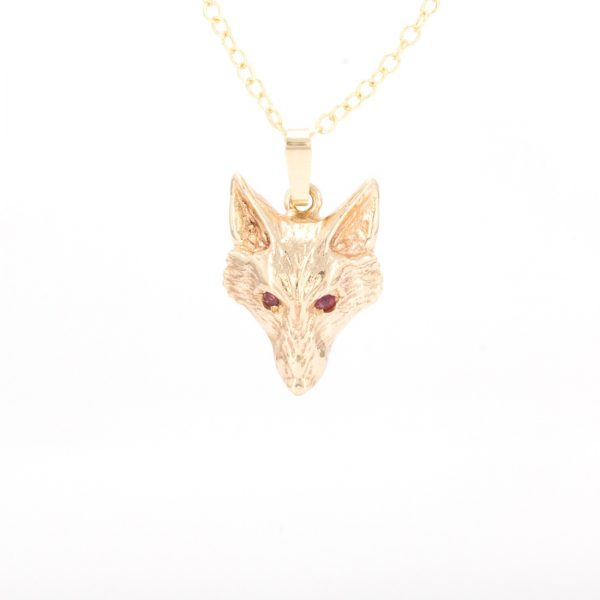 Fox head pendant 9kG and rubies 2