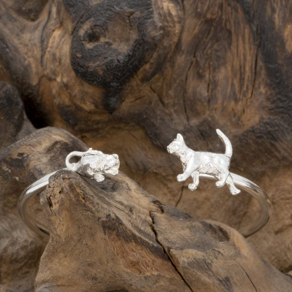 Cat and Mouse Bangle