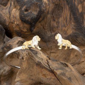 Lion Bangle by Simon Kemp