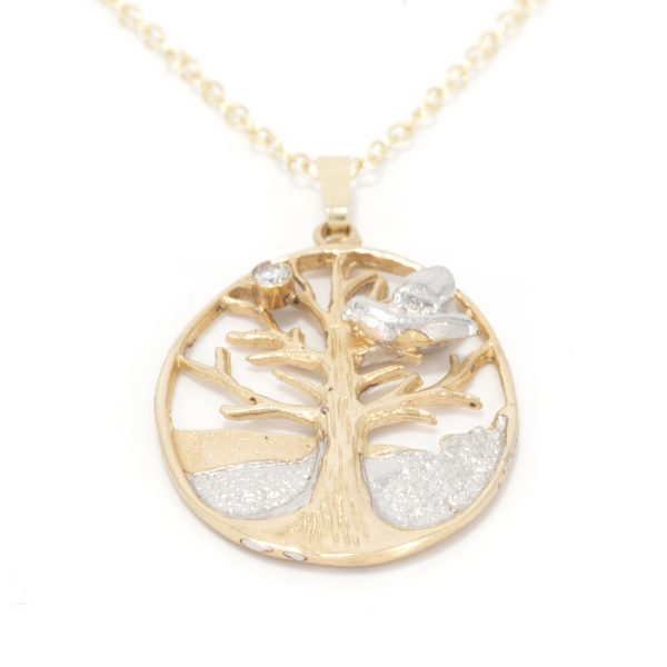 Tree of Life in Solid Gold